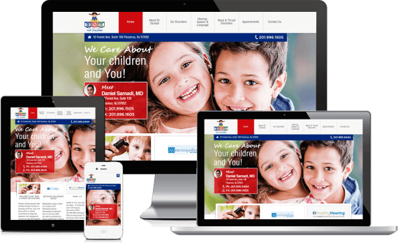 ENT For Children Web Design Medical & Healthcare