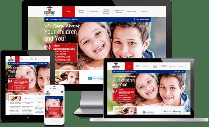 Custom website design for pediatricians