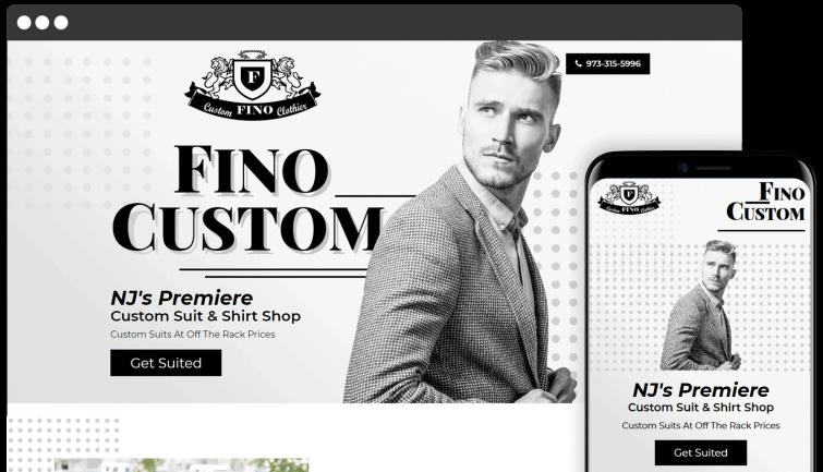 Fino Custom: Local Business Website Redesign