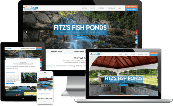 Fitz's Fish Ponds Web Design Small Business