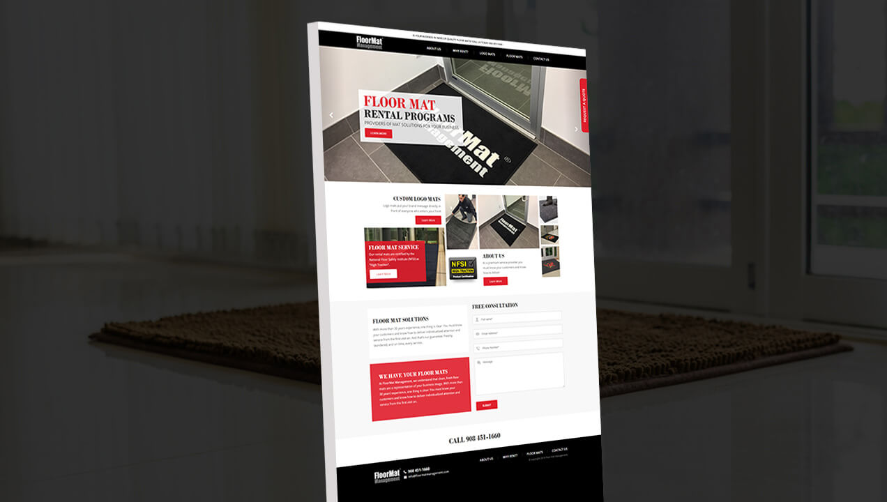 Floor Mat Management Landing Page