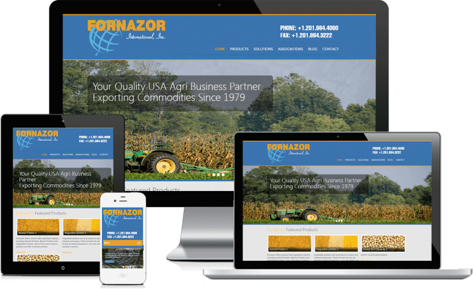 Custom website design for an agriculture company