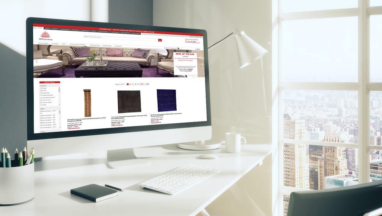 1800 get a rug website on a desktop