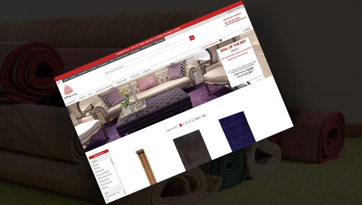 1800 get a rug website on a tablet