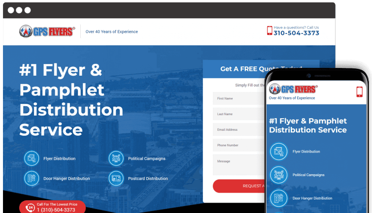 GPS Flyers: Local Business Website Redesign