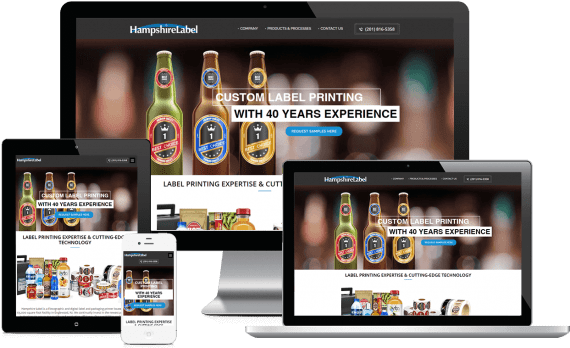 Hampshire Labels Web Design Business to Business