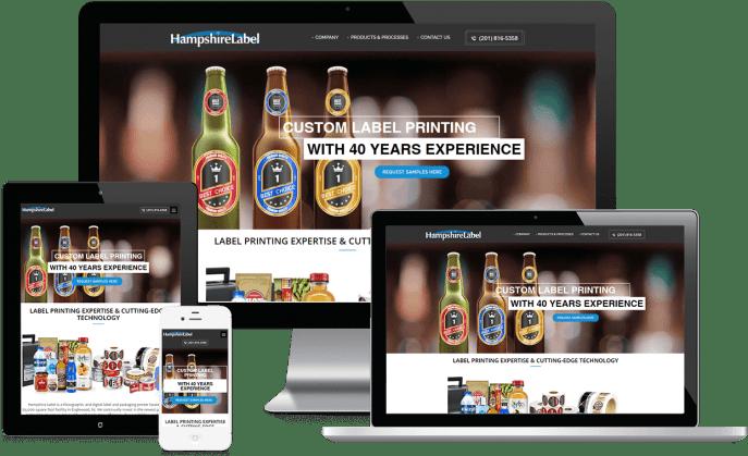 Custom website design for custom labels