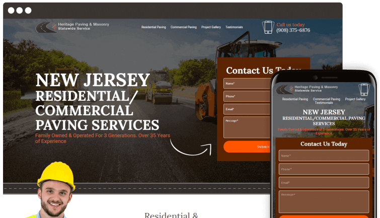 Heritage Paving & Masonry Statewide Service: Homeservices Website Redesign
