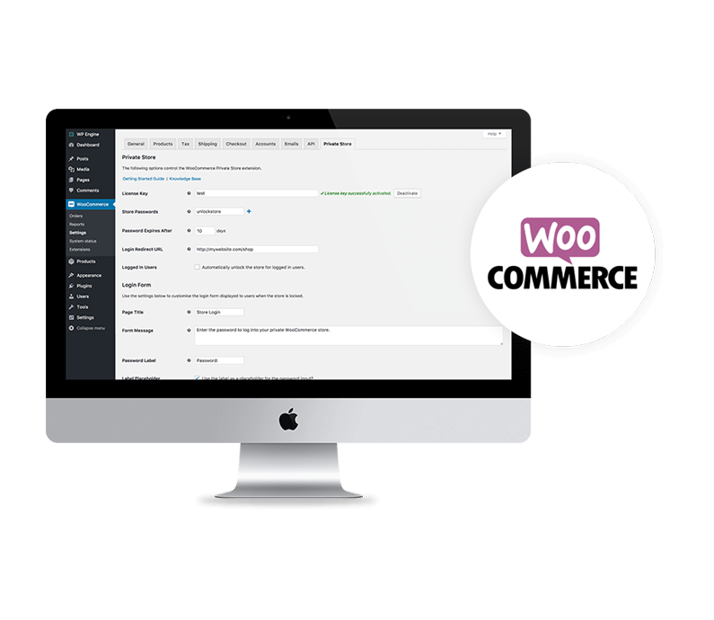 Wordpress with Woocommerce Header