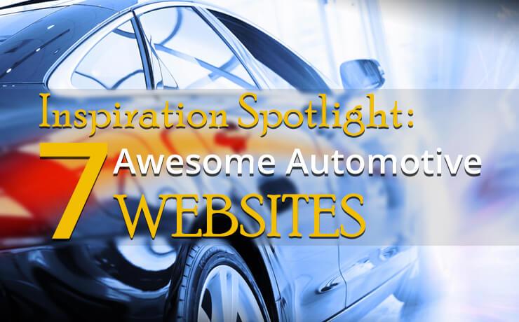 Inspiration Spotlight: 7 Awesome Automotive Websites
