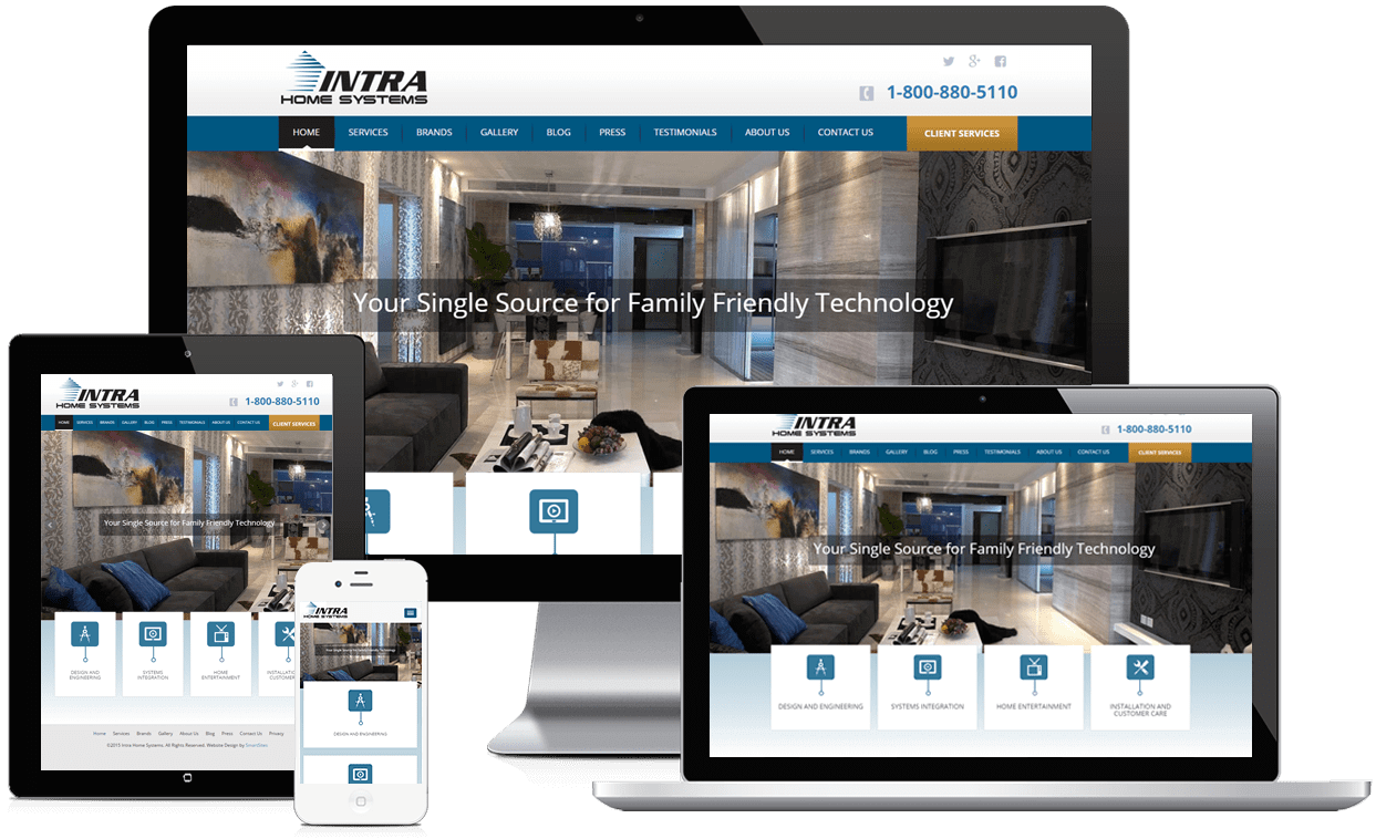 Intra Home Systems Responsive Website Design
