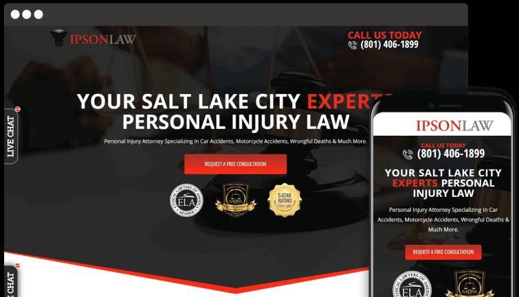 IpsonLaw: Attorney & Law Website Redesign
