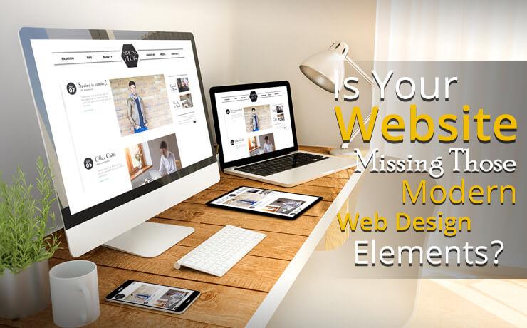 modern web design elements