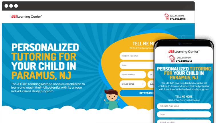 JEI Learning Center: Local Business Website Redesign