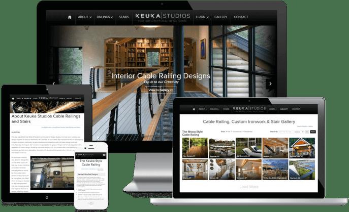 Custom website design for a railing contractor