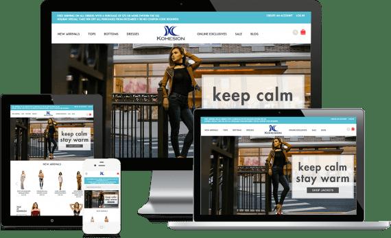 Kohesion Clothing Web Design Retail