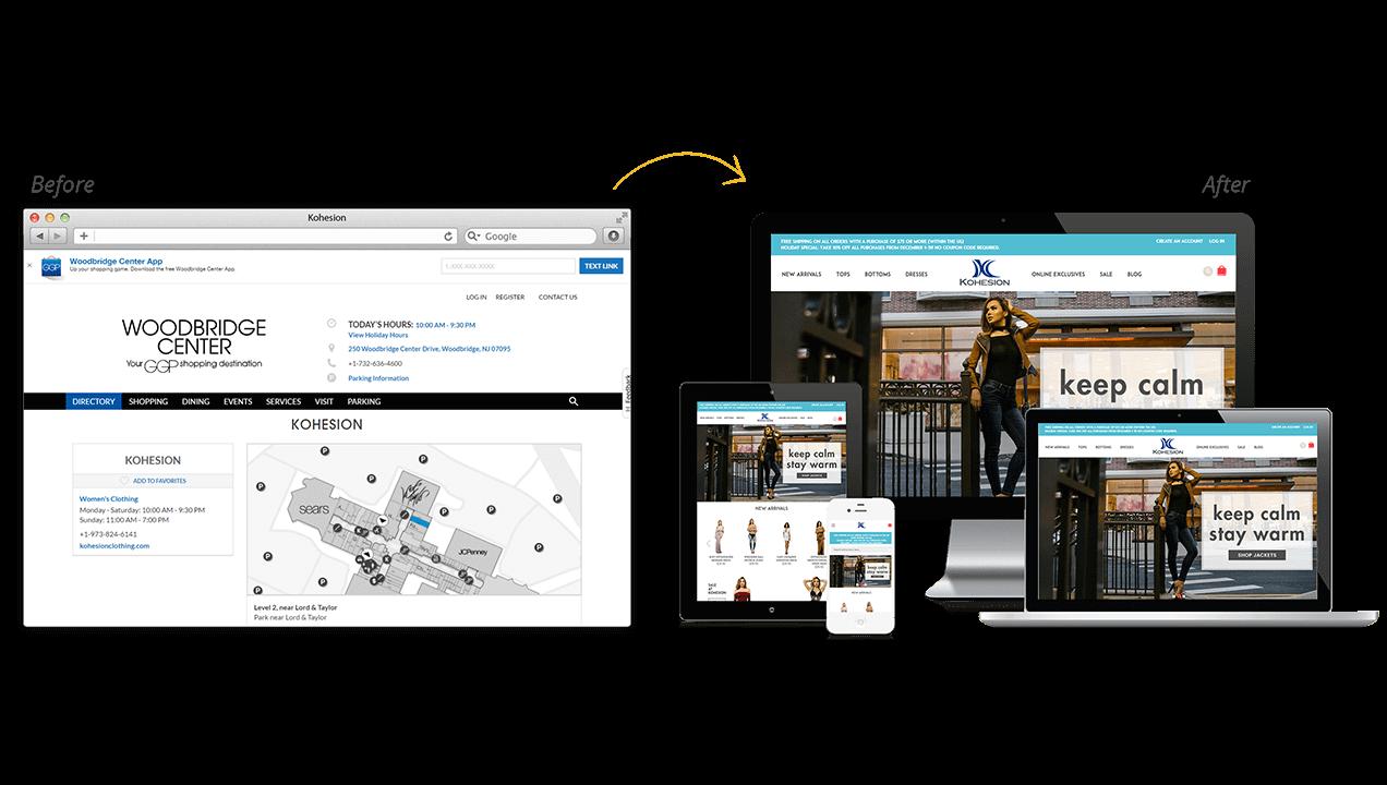 Kohesion Website Design Before & After