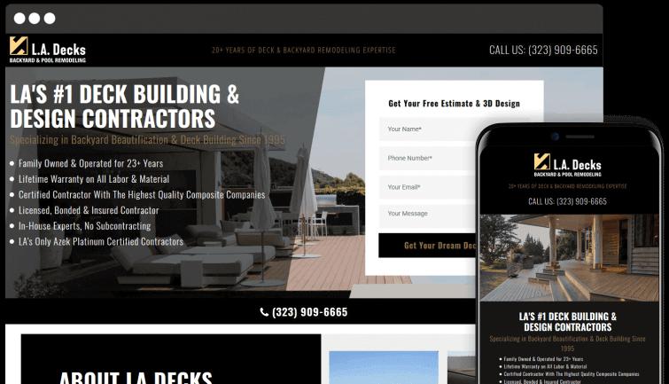 LA Decks: Homeservices Website Redesign