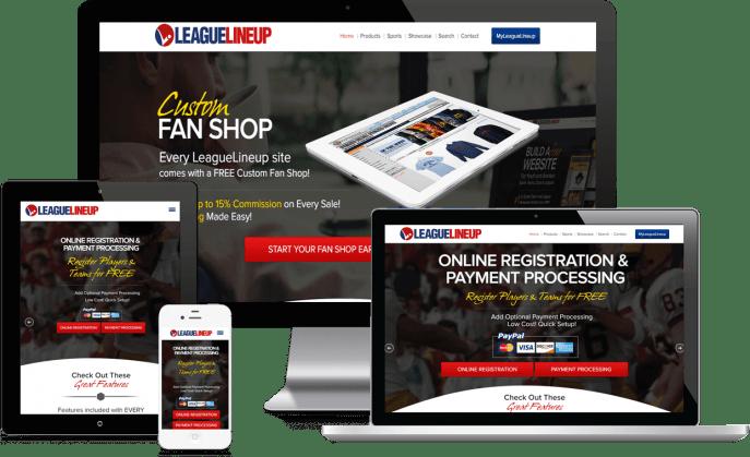 Custom website design for sports leagues