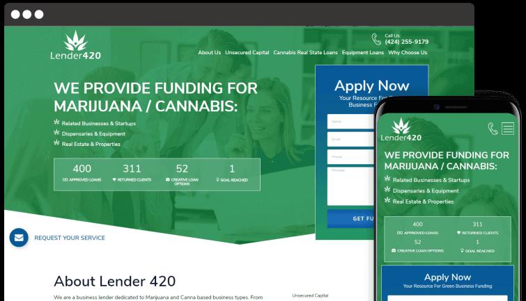 Lender 420: B2B Website Redesign