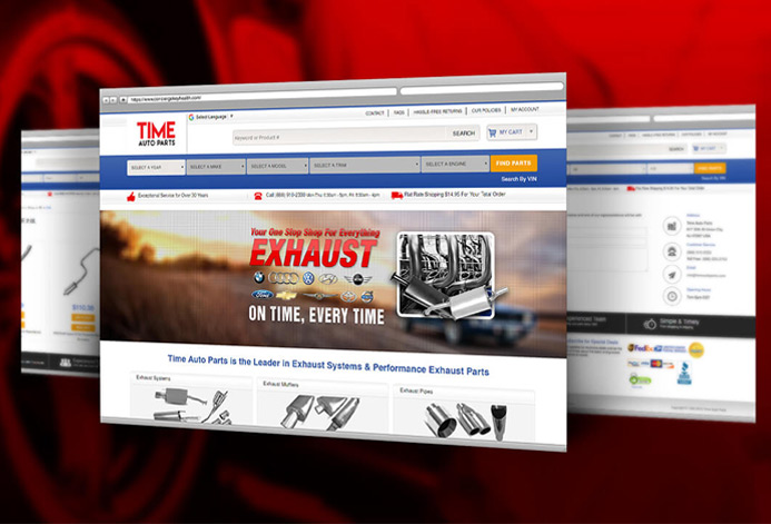 TimeAutoParts Magento Website