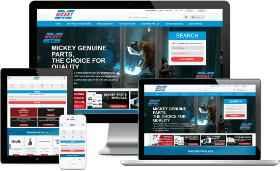 Mickey Parts Web Design Ecommerce