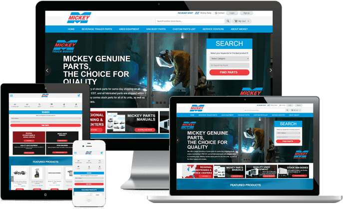 Ecommerce website for truck body parts
