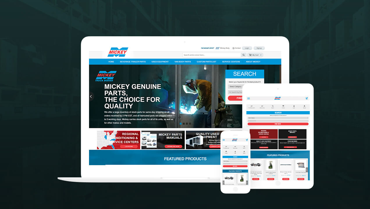 Mickey Parts Responsive Website Design