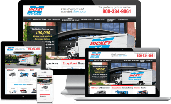 Mickey Truck Bodies Web Design Industrial & Commercial