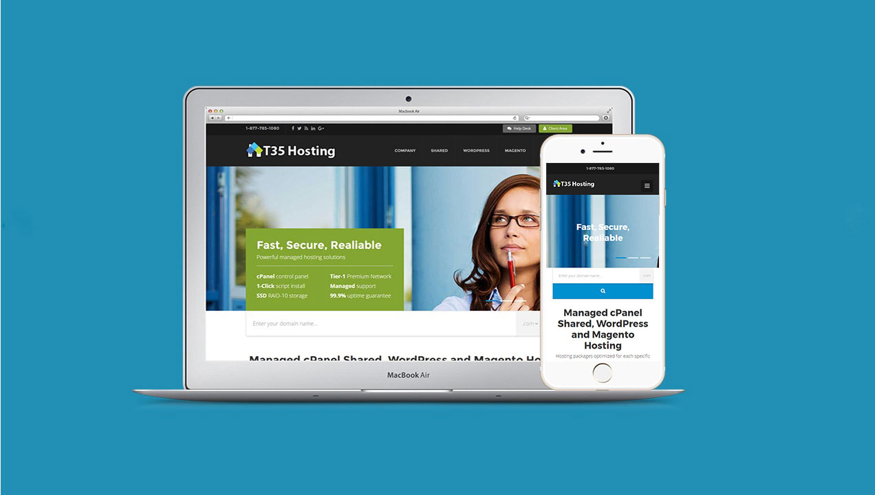 Mobile Desktop Website T35 Hosting
