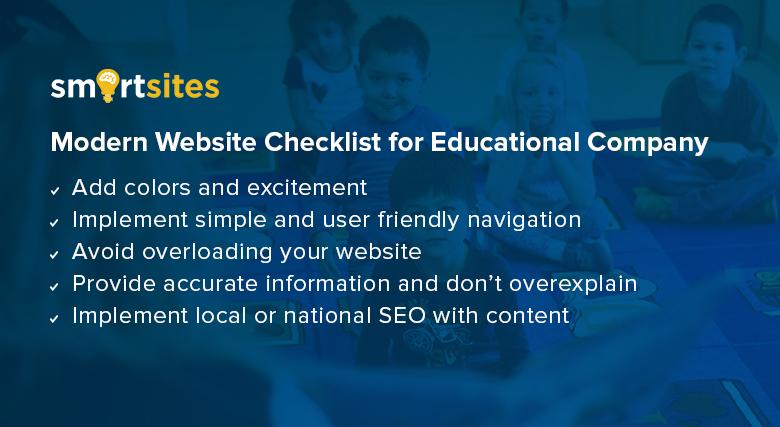 Modern Website Checklist for Educational Company