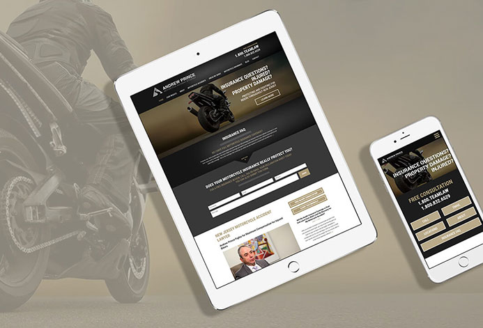 Motorcycle Injury Law WordPress Website