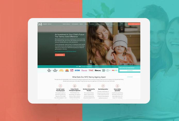 Tammy Gold Nanny Agency WordPress Website