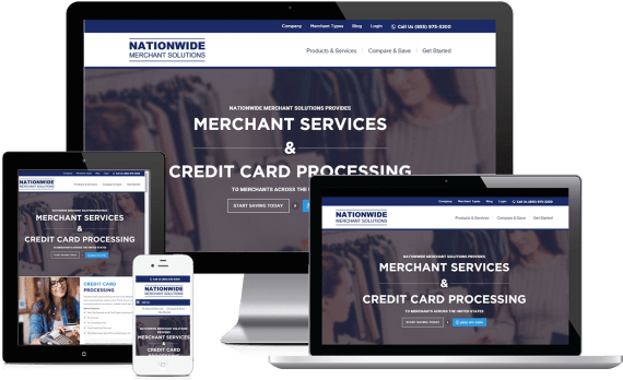 Nationwide Merchant Solutions Web Design Business to Business