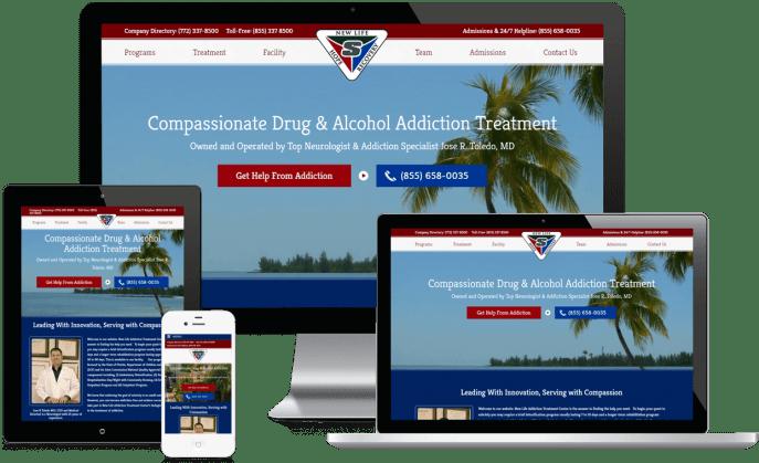 Custom website design for an addiction treatment center