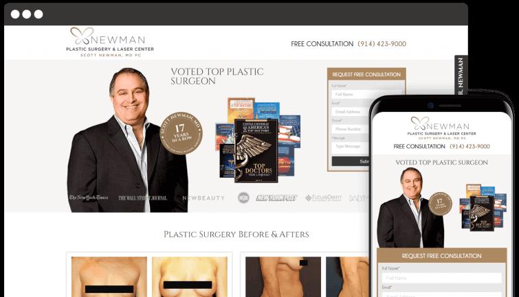 Newman Plastic Surgery & Laser Center: Medical Website Redesign