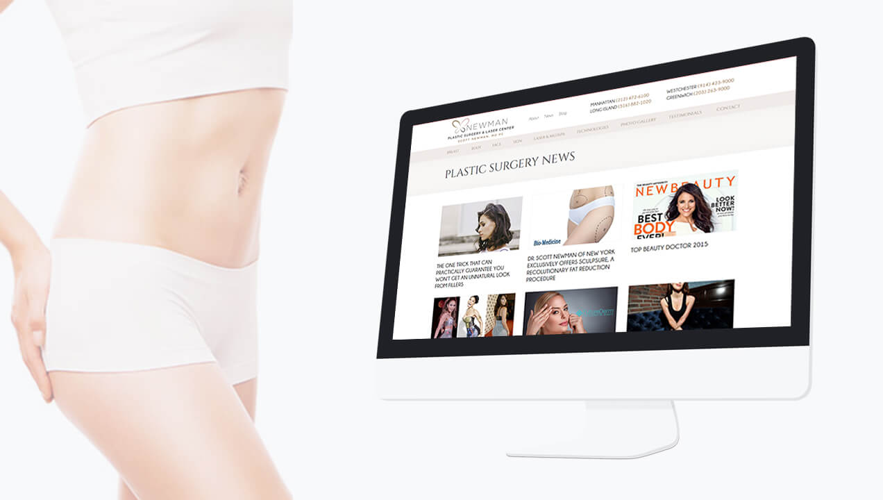 Newman Plastic Surgery website on desktop view