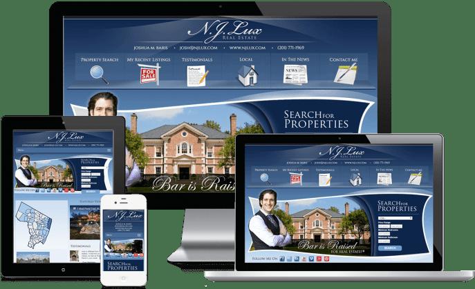Custom website design for a real estate agent