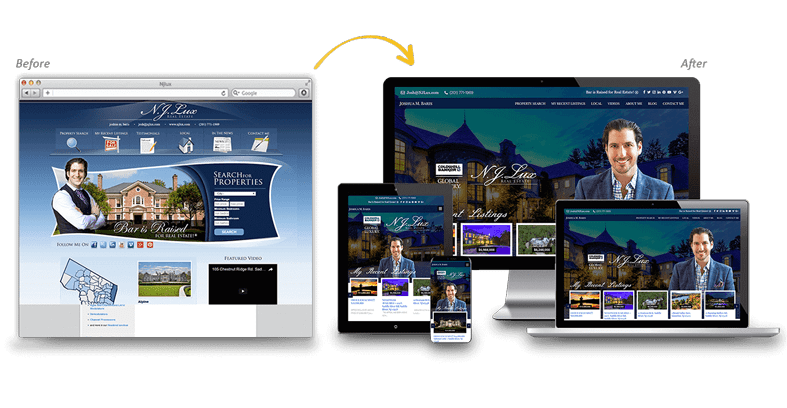 NJLux: Local Business Website Redesign