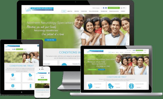 Custom website design for a neurology practice