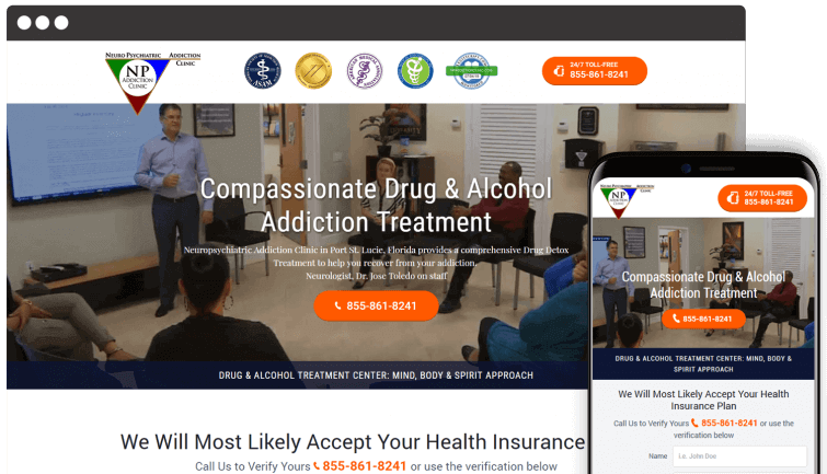 NP Addiction Clinic: Medical Website Redesign