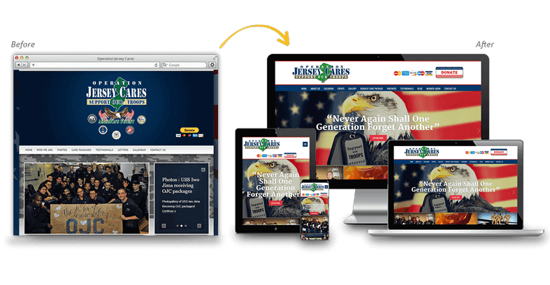 Operation Jersey Cares: Local Business Website Redesign