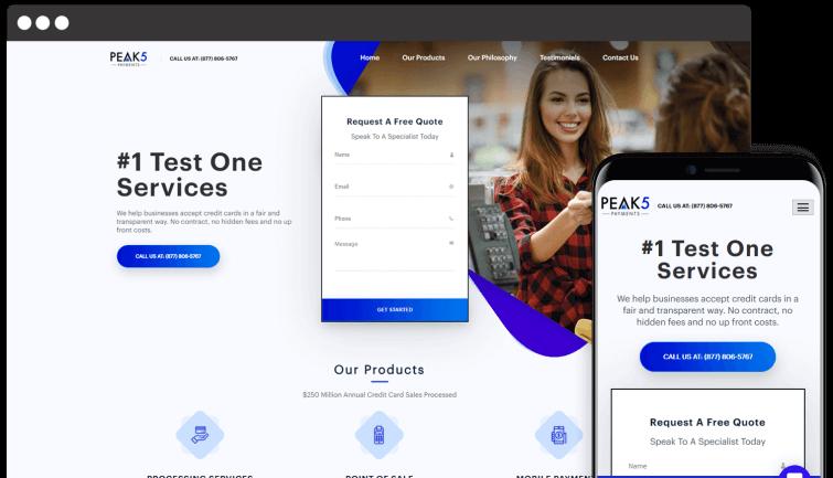 Peak5 Payments: B2B Website Redesign