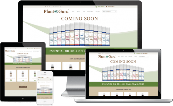 Plant Guru Web Design Ecommerce