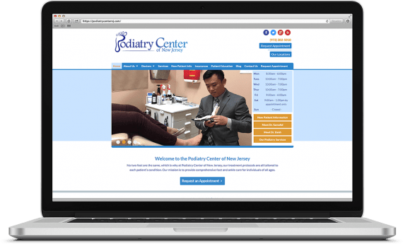 Podiatry Center of NJ Web Design Medical & Healthcare