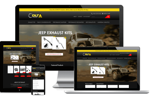 Colt Exhaust Web Design Ecommerce
