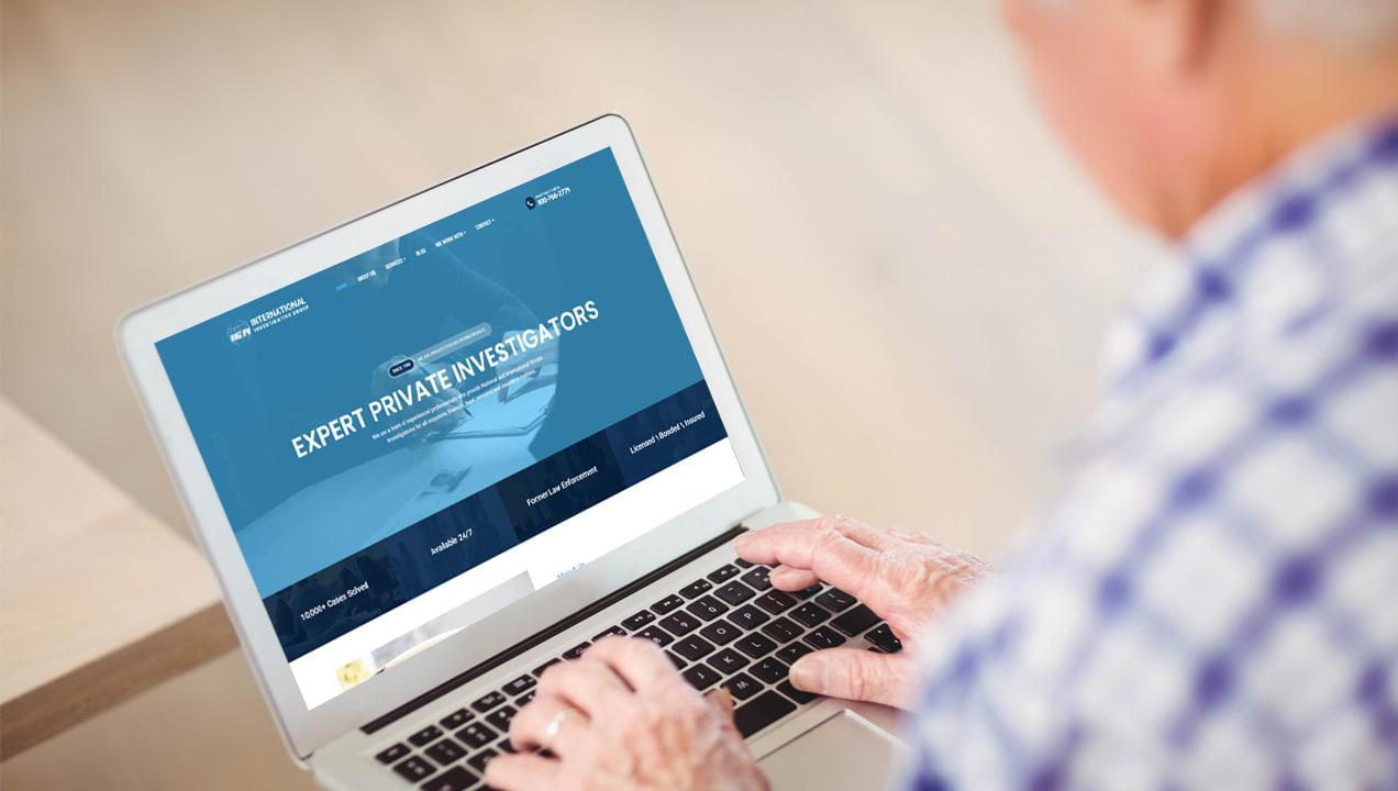 PPC Small Business: International Investigators Expert Private Investigators, in laptop