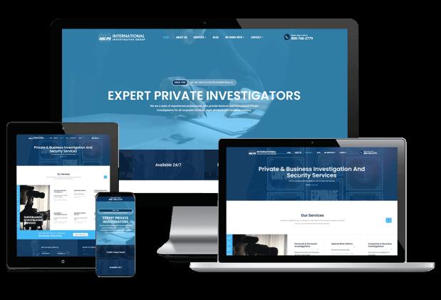 Custom website design for private investigator services