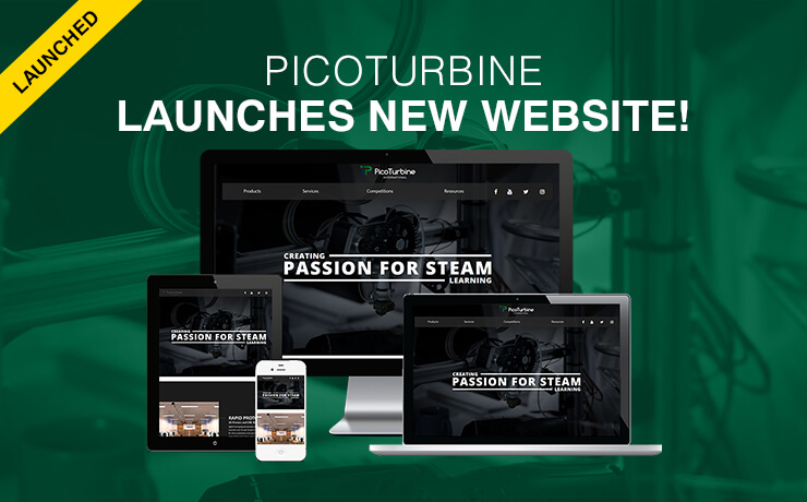 STEM Company PicoTurbine Launches Brand New Website!