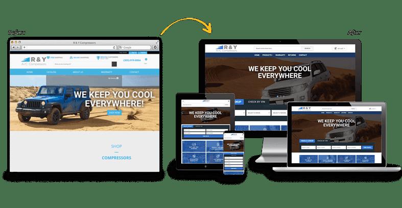 R & Y Compressor: B2C Website Redesign